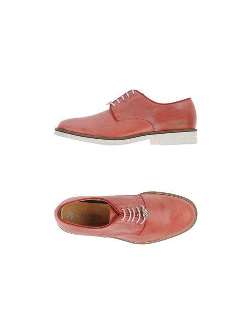 Brimarts | Мужская Красная Обувь На Шнурках