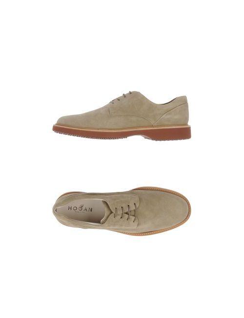 Hogan | Мужская Бежевая Обувь На Шнурках