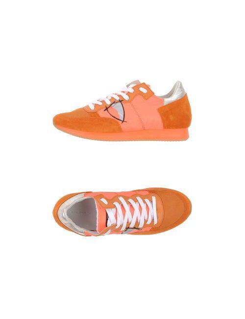 Philippe Model | Мужские Оранжевые Низкие Кеды И Кроссовки