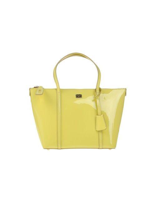 Dolce & Gabbana | Женская Жёлтая Сумка На Руку