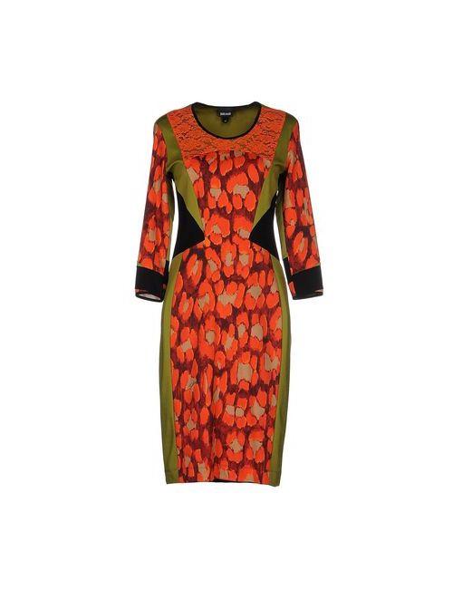 Just Cavalli | Женское Зелёное Платье До Колена