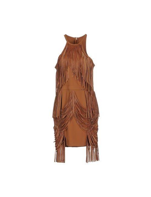 ELISABETTA FRANCHI | Женское Коричневое Короткое Платье