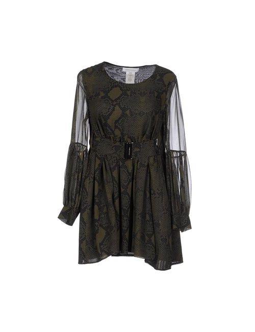 Pierre Balmain   Женское Зелёное Короткое Платье