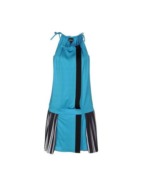 Just Cavalli | Женское Бирюзовое Короткое Платье