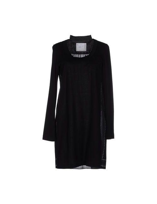 Sacai | Женское Чёрное Короткое Платье