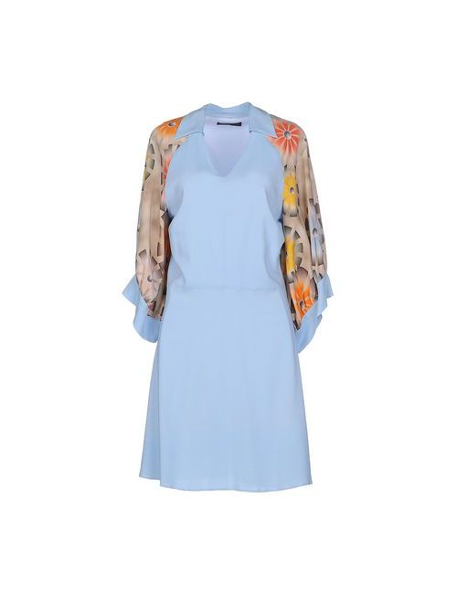 Jo No Fui | Женское Голубое Короткое Платье