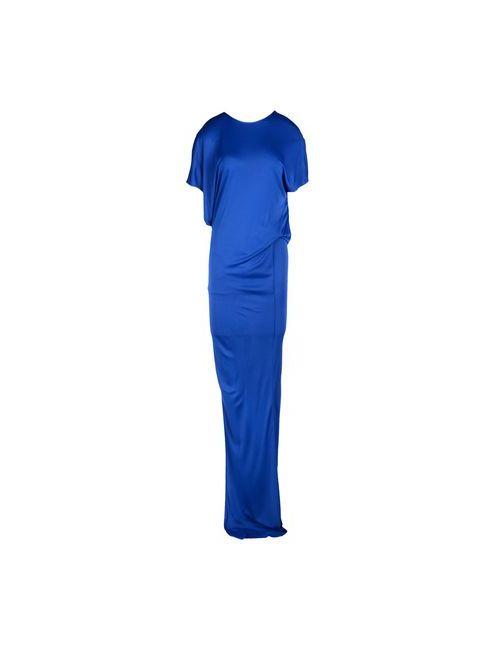 MSGM | Женское Синее Длинное Платье