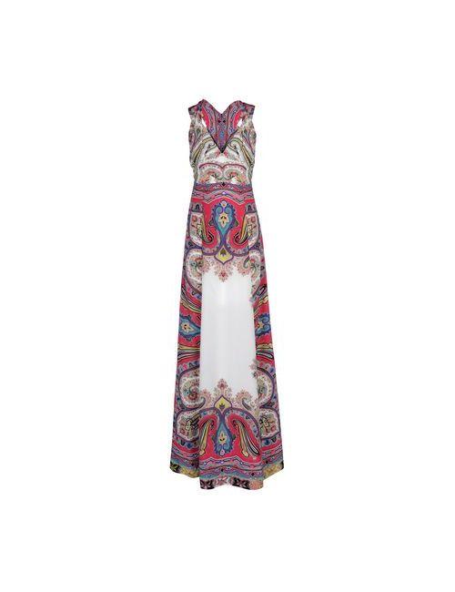 Etro | Женское Фуксия Длинное Платье