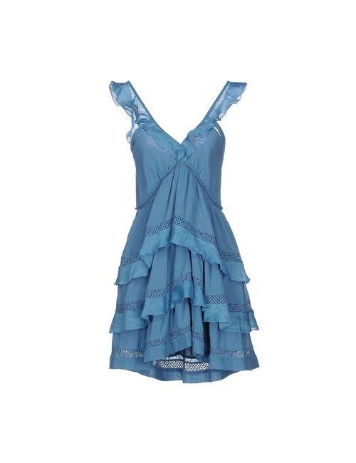 ISABEL MARANT ÉTOILE | Женское Синее Короткое Платье