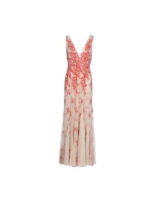 Alice+Olivia | Женское Красное Длинное Платье