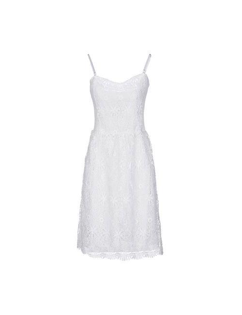 Silvian Heach | Женское Белое Платье До Колена