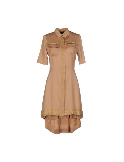 Jo No Fui | Женское Бежевое Короткое Платье