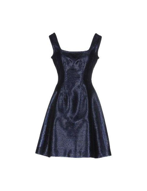 Carven   Женское Синее Короткое Платье