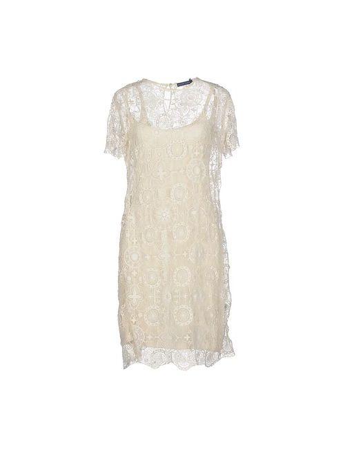 Ralph Lauren | Женское Слоновая Костящее Короткое Платье