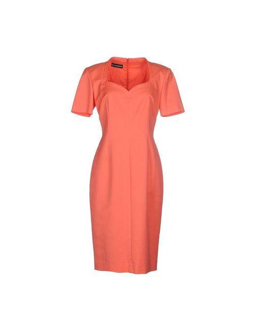 Gio' Guerreri | Женское Оранжевое Платье До Колена