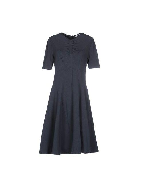Carven | Женское Синее Платье До Колена