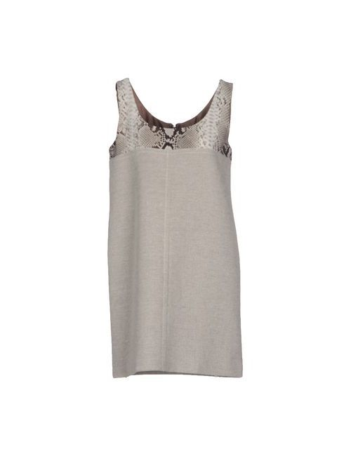 Carven | Женское Серое Короткое Платье