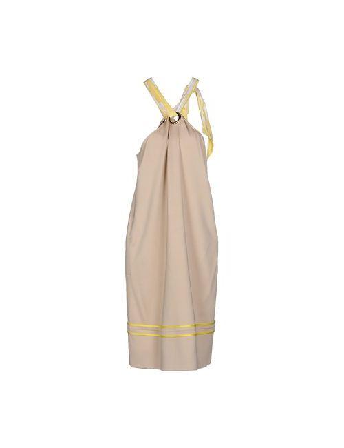 Class Roberto Cavalli | Женское Бежевое Короткое Платье