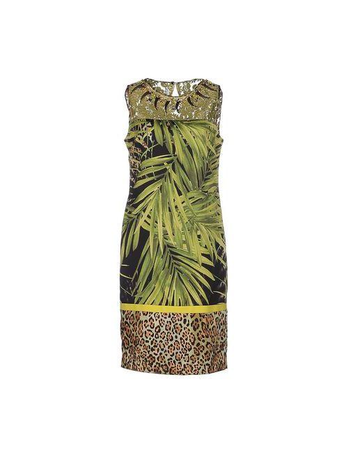 Clips | Женское Зелёное Платье До Колена