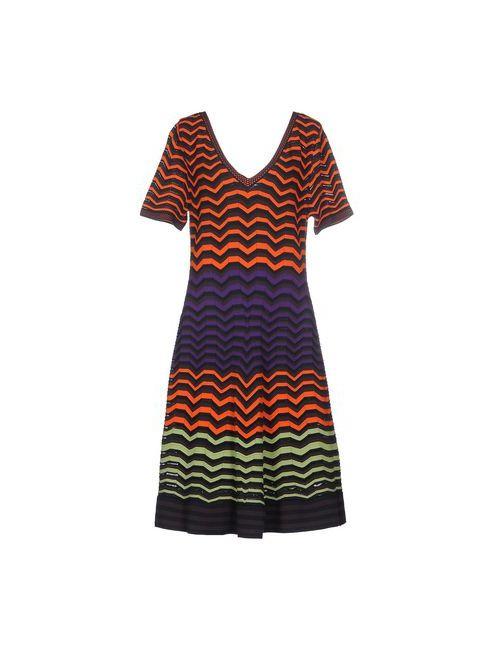 Missoni   Женское Оранжевое Платье До Колена