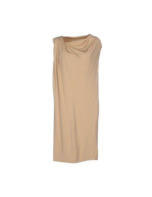 Barbon | Женское Песочное Платье До Колена