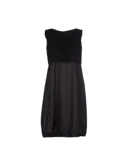 'S Max Mara | Женское Чёрное Короткое Платье