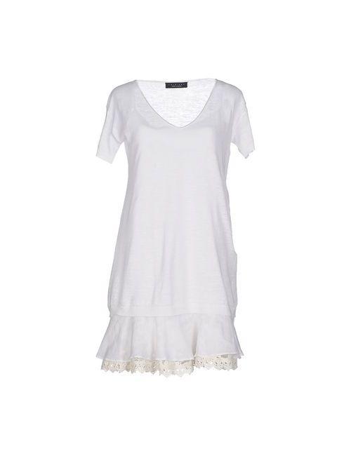 Twin-Set Simona Barbieri | Женское Белое Короткое Платье