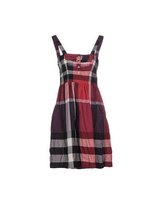 Burberry Brit | Женское Зелёное Короткое Платье