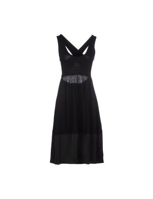 Soho De Luxe | Женское Чёрное Платье До Колена