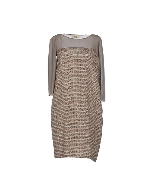Niu' | Женское Серое Короткое Платье