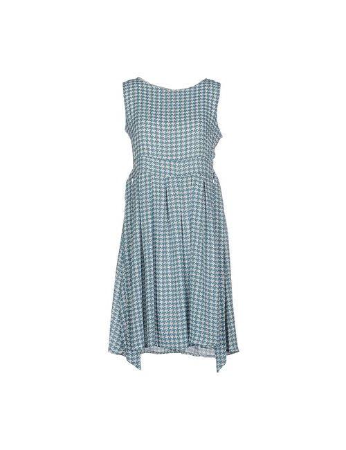 Lou Lou London   Женское Цвет Морской Волны Короткое Платье