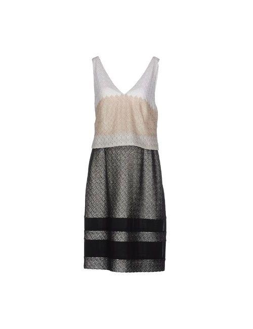 Missoni | Женское Чёрное Платье До Колена