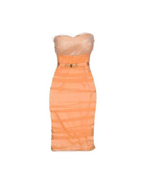 ELISABETTA FRANCHI | Женское Абрикосовое Короткое Платье