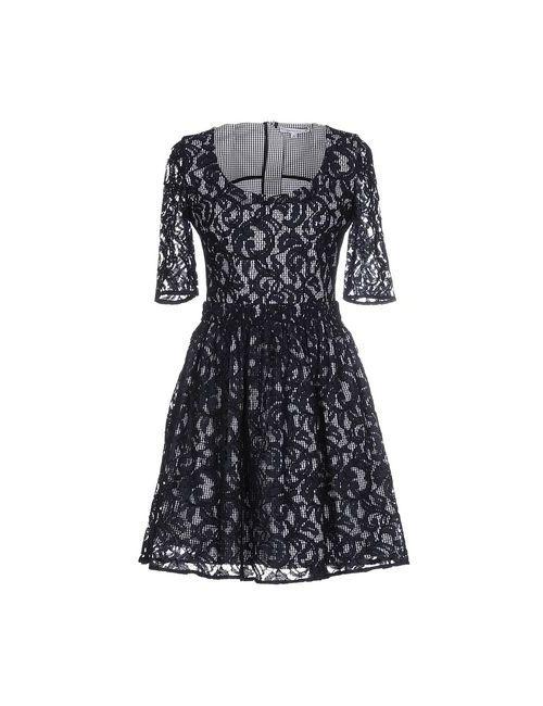 Carven | Женское Синее Короткое Платье