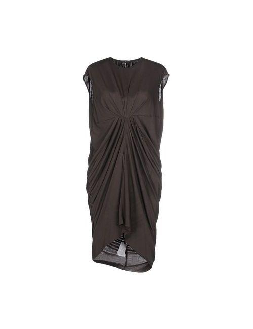 Rick Owens Lilies | Женское Серое Короткое Платье