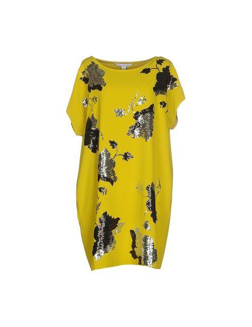 Diane Von Furstenberg | Женское Жёлтое Короткое Платье
