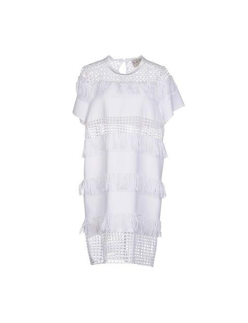 Sea   Женское Белое Платье До Колена