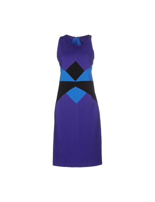 Versace Collection | Женское Фиолетовое Платье До Колена