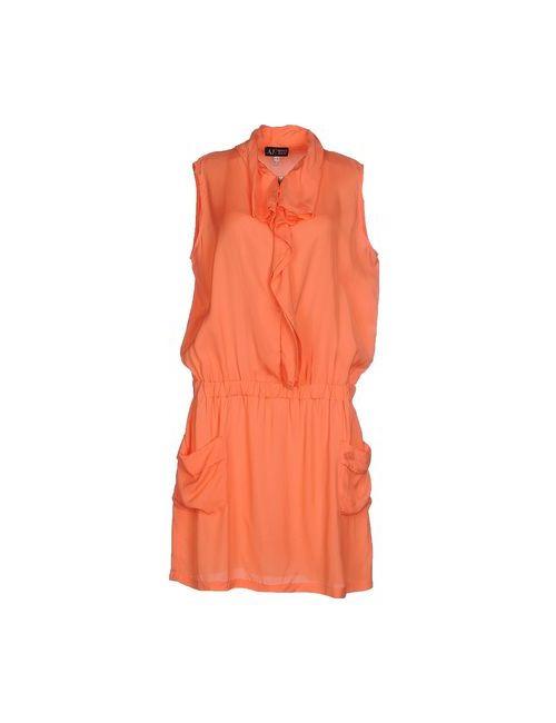 ARMANI JEANS | Женское Оранжевое Короткое Платье