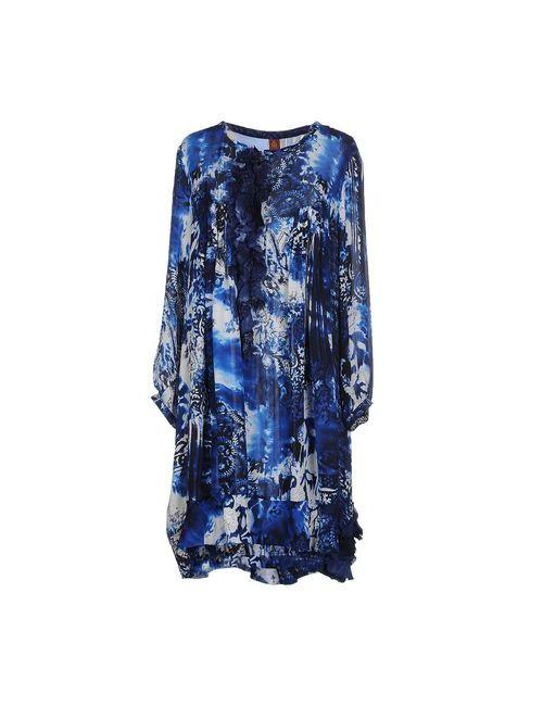 Dondup   Женское Синее Короткое Платье