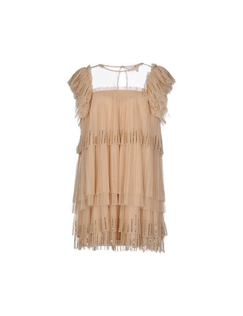 ELISABETTA FRANCHI | Женское Бежевое Короткое Платье