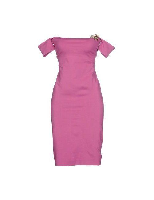 Dsquared2 | Женское Фиолетовое Короткое Платье