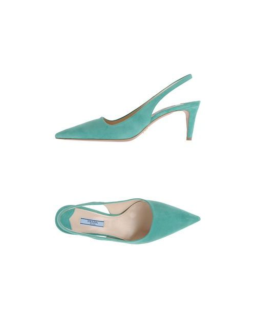Prada | Женские Зелёные Туфли