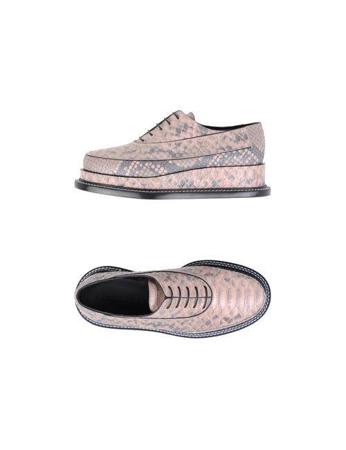 Jil Sander | Женская Розовая Обувь На Шнурках