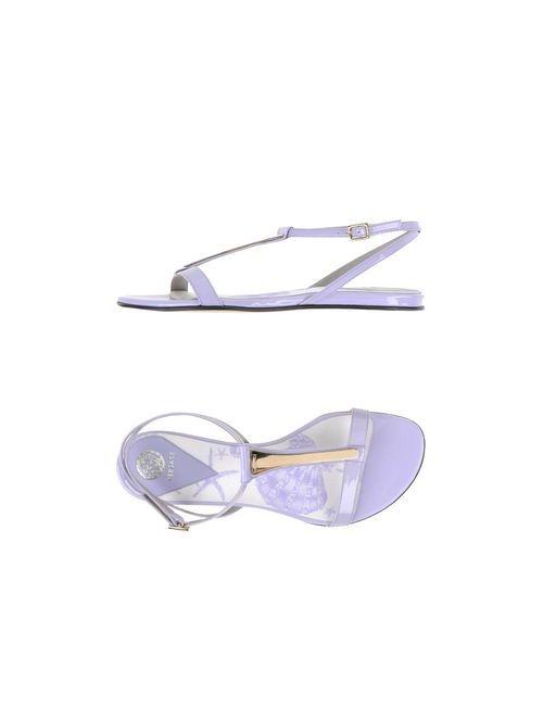 Versace   Женские Фиолетовые Сандалии