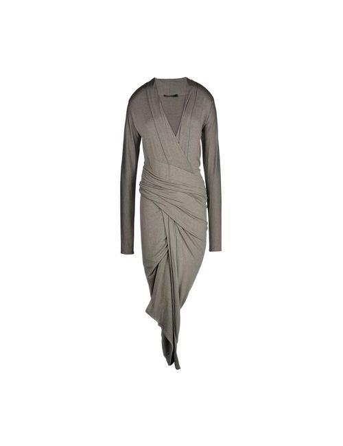 Donna Karan   Женское Серое Длинное Платье