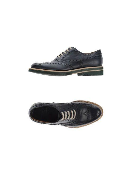 Barrett | Мужская Синяя Обувь На Шнурках