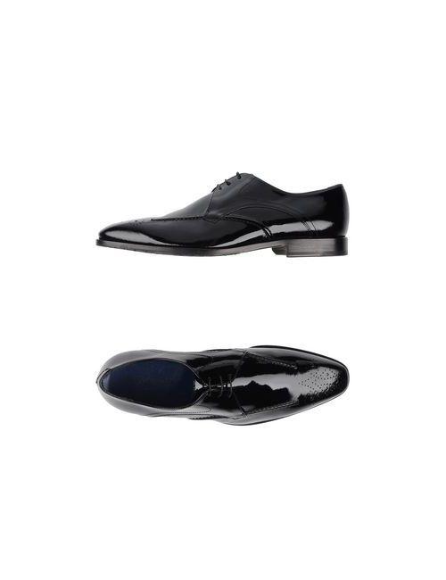 Alberto Guardiani   Мужская Чёрная Обувь На Шнурках