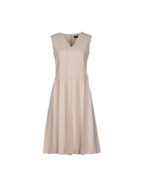 Trussardi | Женское Слоновая Костящее Платье До Колена