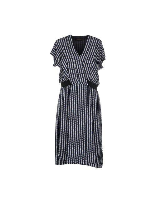 Trussardi | Женское Синее Платье До Колена